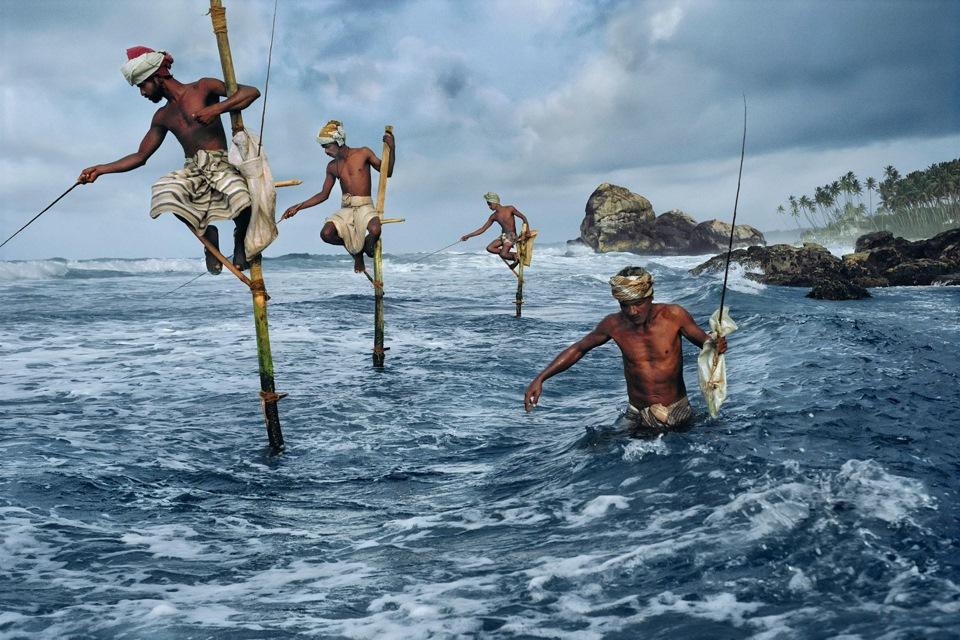 Рыбаки на шестах ШриЛанки