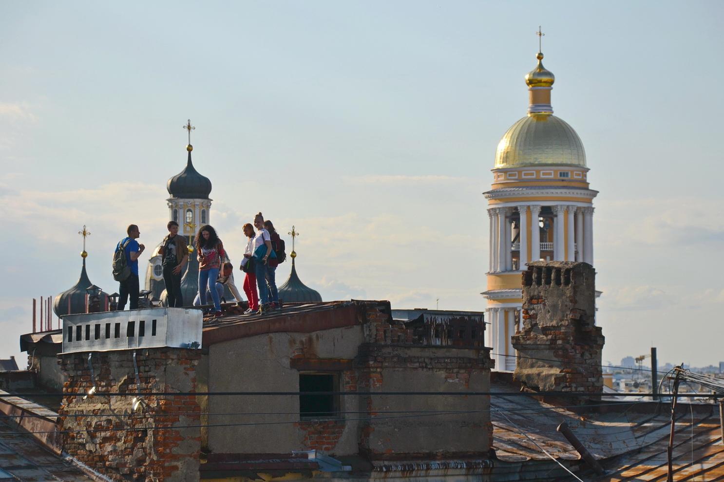 Экскурсия по крышам спб
