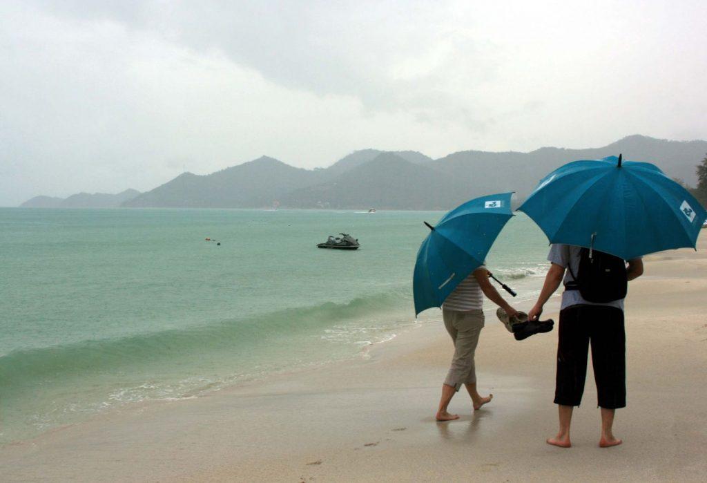 Зимой зонт на Бали не помешает