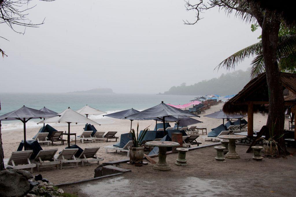 Погодные условия на острвое зимой