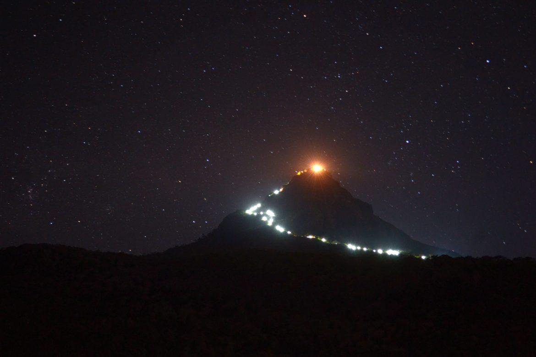 Вид на Пик Адама ночью