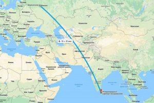 сколько лететь в Шри-Ланку