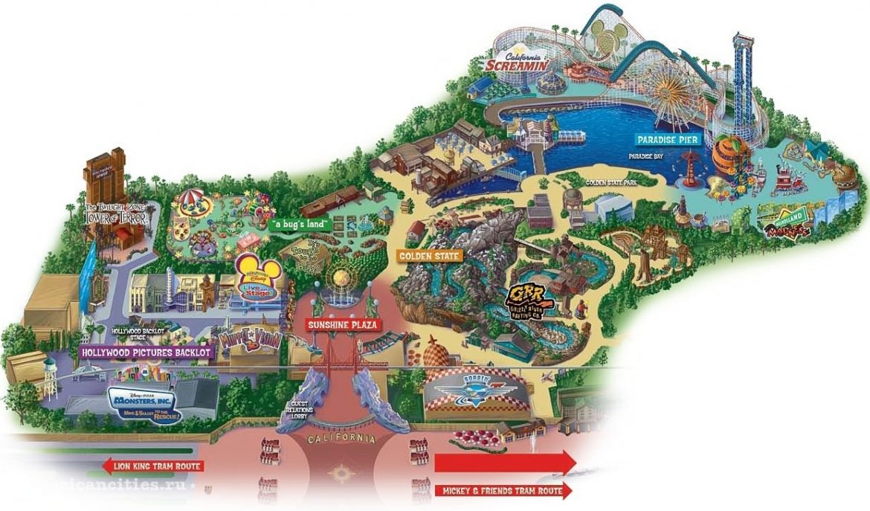 Карта развлекательного парка