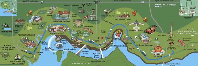Интерактивная карта водопада